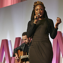 Jully Black performing